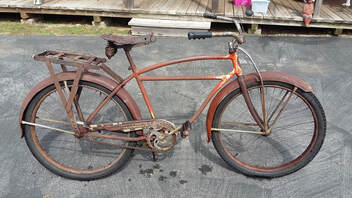 29bd68a2e2f  Ready to ride 1941 Schwinn skip tooth cruiser. Either keep it Rat Rod, or  restore it. It is a complete bicycle.